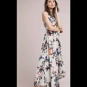 Anthropologie Tamra Floral High Low Dress Size 16